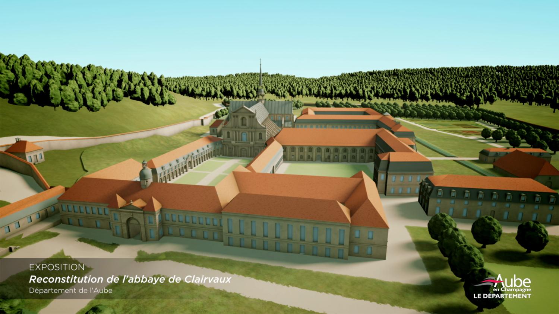 Aloest Culture - modelisation abbaye de clairvaux