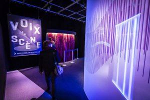 La Voix : l'expo qui vous parle, Cité des sciences et de l'Industrie. Paris, décembre 2013. © Arnaud Robin / 06 76 23 38 34 / wwww.arnaudrobin.net / arnaudrobin@free.fr