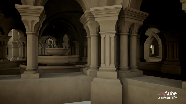 abbaye de clairvaux 3D