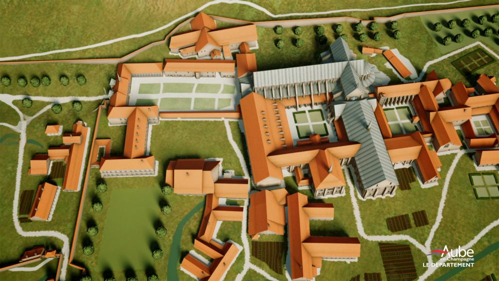 Abbaye de Clairvaux - modele 3D
