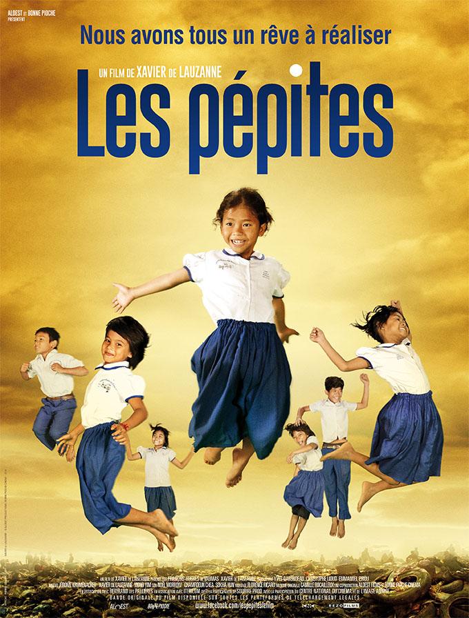 film documentaire - Les Pépites un film de Xavier de Lauzanne - affiche 5 Octobre 2016 Cambodge enfants études