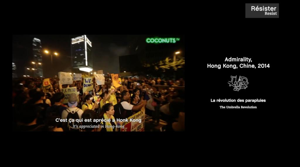 film pedagogique culturel - Universcience rendez vous sur la place - révolution des parapluies