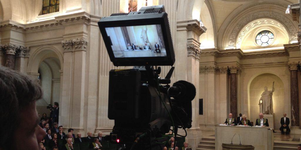 Captation - Institut de France 2016 - coupole interieure - camera sony FS7