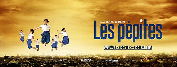 bandeau pepites dvd Xavier de Lauzanne documentaire 5 Octobre 2016 Cambodge enfants études