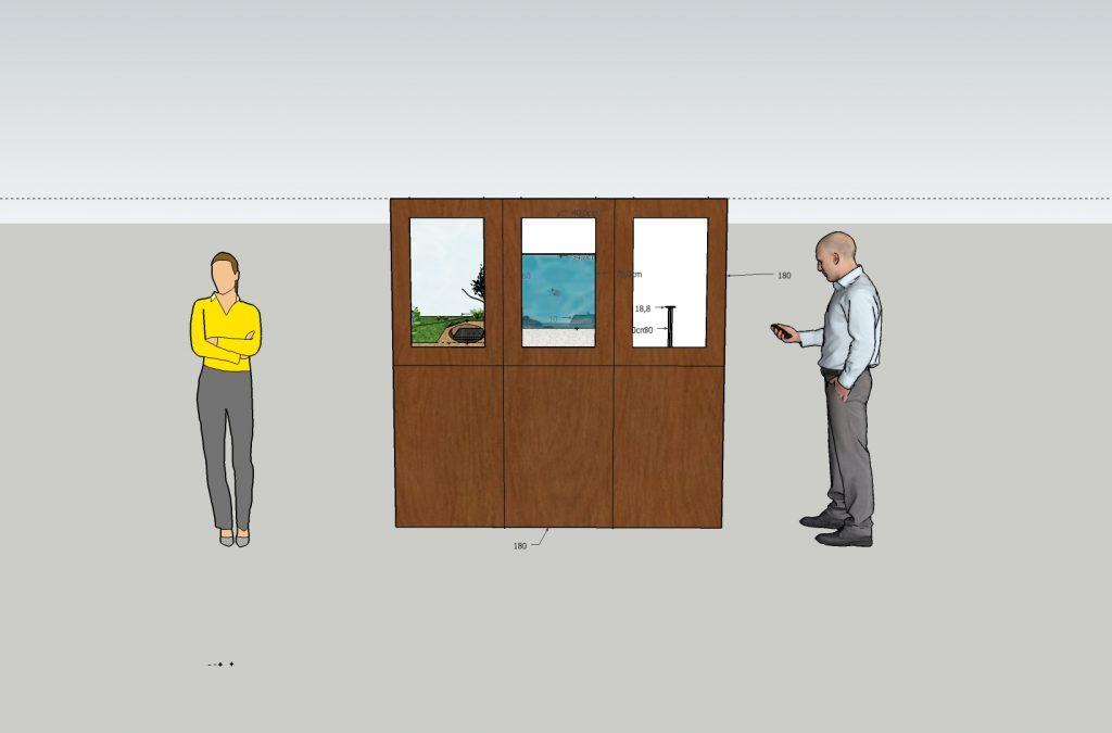 Universcience - Exposition Pasteur - modele 3D - face visiteurs