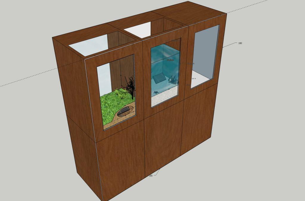 Universcience - Exposition Pasteur - modele 3D - 3/4 haut gauche