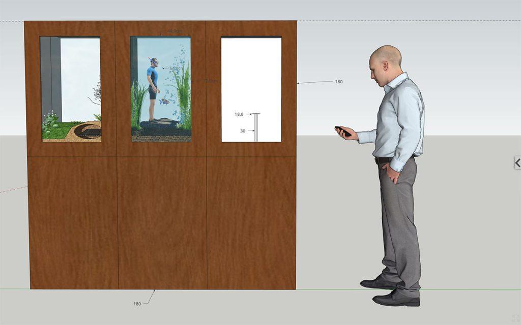 Universcience - Exposition Pasteur - modele 3D - face visiteur