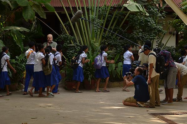 les pépites tournage xavier de lausanne perche documentaire 5 Octobre 2016 Cambodge enfants études