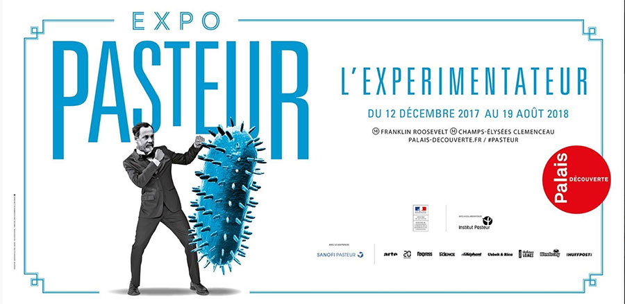 UNIVERSCIENCE - Expo Pasteur - Culture des bacteries - Affiche