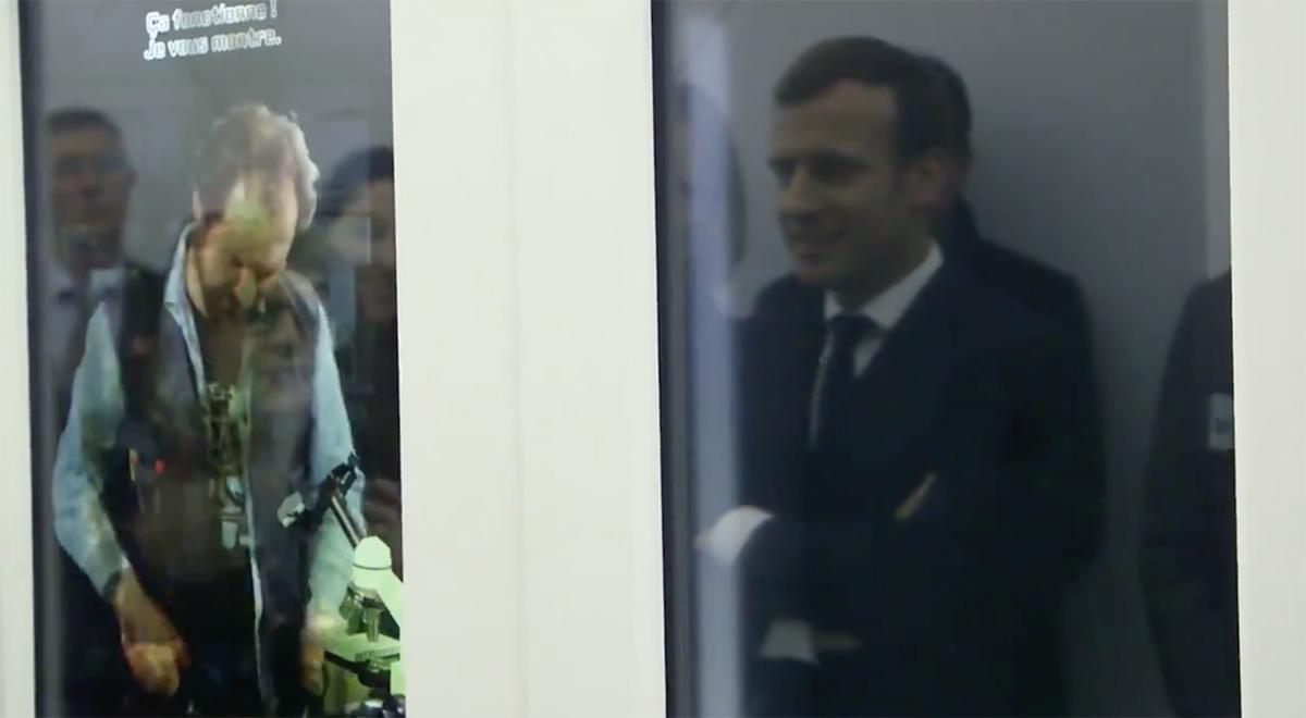 UNIVERSCIENCE - Expo Pasteur - Culture des bacteries - Emmanuel Macron - Fitzgerald Berthon