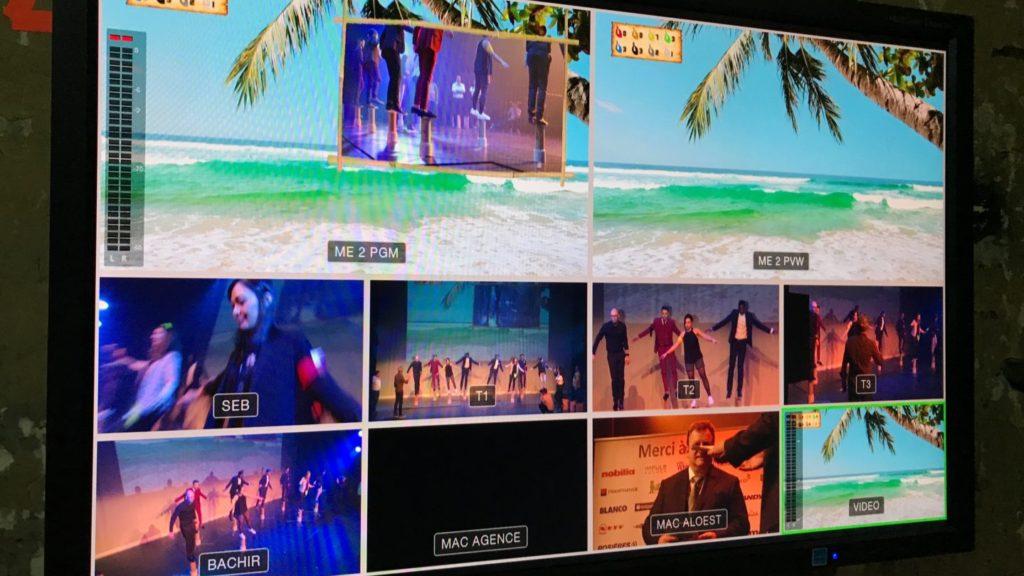 captation - casino de paris - TF1 Events moniteur écran régie