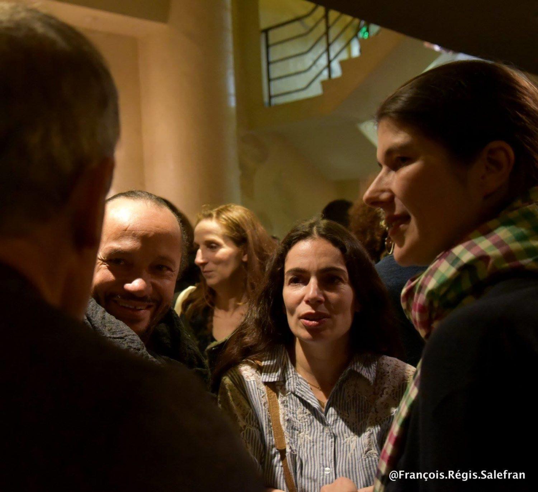 Jill Coulon, Yael Naim et David Donatien au Max Linder pour l'Avant-Première du film Grandir